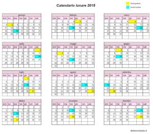calendario lunare 2015