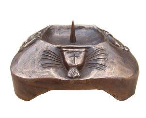 candelabro bronzo battesimo